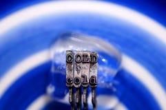 Cabezas frías de la huelga de la máquina de escribir del cubo de hielo Foto de archivo