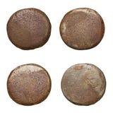 Cabezas oxidadas aisladas del clavo Fotografía de archivo