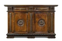 CABI scolpita di legno d'annata italiana originale anziana del buffet della credenza fotografie stock libere da diritti