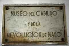 Cabildo può museo di rivoluzione Fotografia Stock