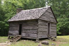 Cabin 1. Old rustic cabin in the Smokey Mountains of Tennessee Royalty Free Stock Photos