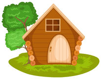 Cabin. Illustration of isolated cabin on white background vector illustration