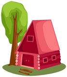 Cabin. Illustration of isolated cabin on white background stock illustration