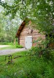 Cabin Shop Backyard Alaska Outback Architecture Stock Image
