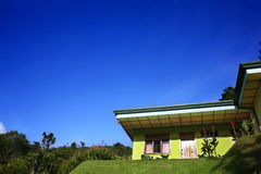 Cabin. An isolated hotel cabin in a tropical setting in  costa rica Royalty Free Stock Images