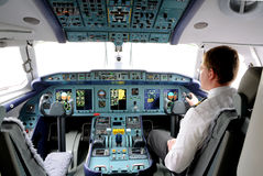 The cabin of the aircraft An-148 Stock Photos