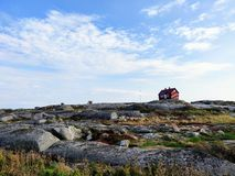 Cabin in archipelago during summer royalty free stock photos