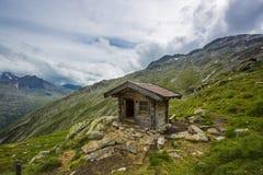Cabin at Austrian Alps Stock Photo