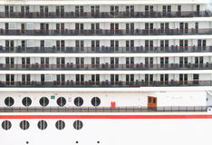 Cabin balconies of a cruise ship Royalty Free Stock Photography