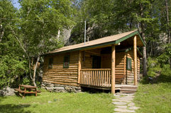 Cabin in Black Hills of South Dakota. In the Summer Royalty Free Stock Photos