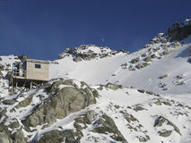 Cabin at Blackcomb Peak, British Columbia Stock Images