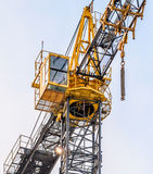 Cabin of building crane Royalty Free Stock Photos