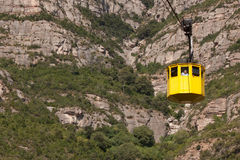 Cabin cable car to Montserrat Royalty Free Stock Photos