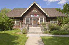 The Cabin center for readers and writers Biose Idaho. The Cabin center for readers and writers in Boise Idaho public park Stock Image