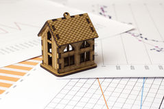 Cabin on the charts Stock Photo