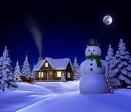 cabin christmas snow απεικόνιση αποθεμάτων