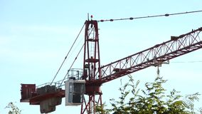 The cabin construction crane stock video footage