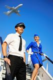 Cabin crew couple Stock Image