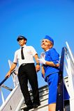 Cabin crew couple stock photography