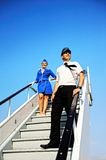 Cabin crew couple Royalty Free Stock Image