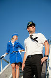 Cabin crew couple Royalty Free Stock Photos