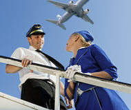 Cabin crew couple Royalty Free Stock Images