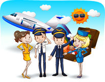 Cabin crew Royalty Free Stock Photos