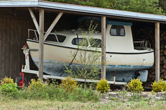 Cabin cruiser Stock Image