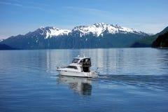 A cabin-cruiser bound for prince william sound Stock Photo