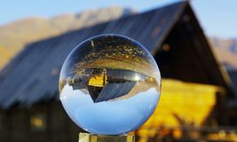 The cabin in the crystal ball Royalty Free Stock Photography