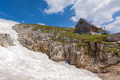 Cabin at the Dachstein Stock Image