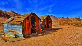 Cabin. Death Valley nevada desert Royalty Free Stock Images