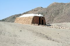 Cabin in desert Stock Image
