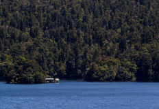 Cabin in Doubtful Sound in New Zealand Stock Photography