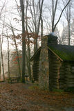 Cabin in Early Morning Mist � New Jersey Royalty Free Stock Photos