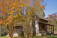 Cabin in the Fall Stock Image
