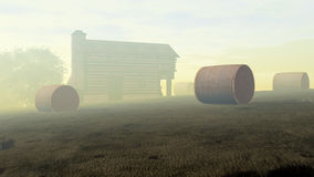 Cabin in Fog Royalty Free Stock Image