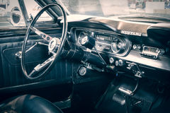 Cabin of Ford Mustang Fastback, 1965. Royalty Free Stock Photo