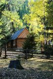 Cabin in forest Royalty Free Stock Photos