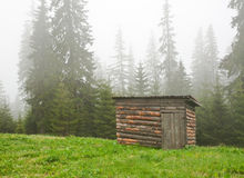 Cabin in the forest Royalty Free Stock Images