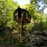 Cabin in the forest Royalty Free Stock Photography