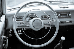 Cabin of the full-size luxury car BMW 502 convertible Stock Image