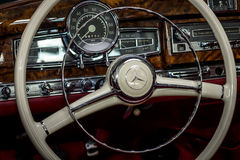 Cabin of the full-size luxury car Mercedes-Benz 300S. Stock Photography