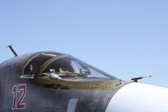 Cabin of Fullback. Sukhoi russian bomber pilot Royalty Free Stock Image