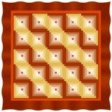 cabin furrow log quilt straight variation бесплатная иллюстрация