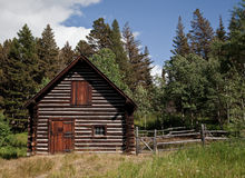 Cabin in Glacier National Park Stock Photography