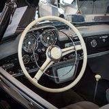 Cabin of grand tourer car Mercedes-Benz 190 SL W121, 1957. Royalty Free Stock Images