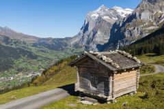 Cabin Grindelwald Wetterhorn Royalty Free Stock Photography