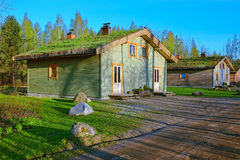 Cabin with ground roof Royalty Free Stock Image