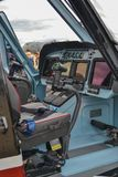 The cabin of the helicopter Royalty Free Stock Photos